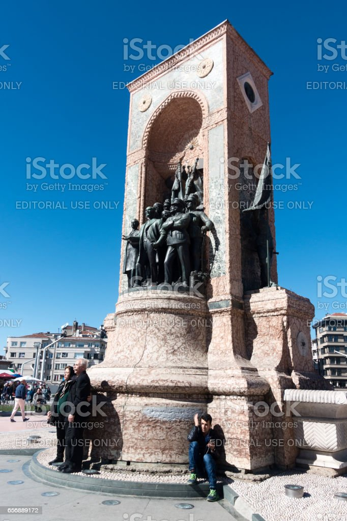 The Independence Monument in Istanbul City stock photo