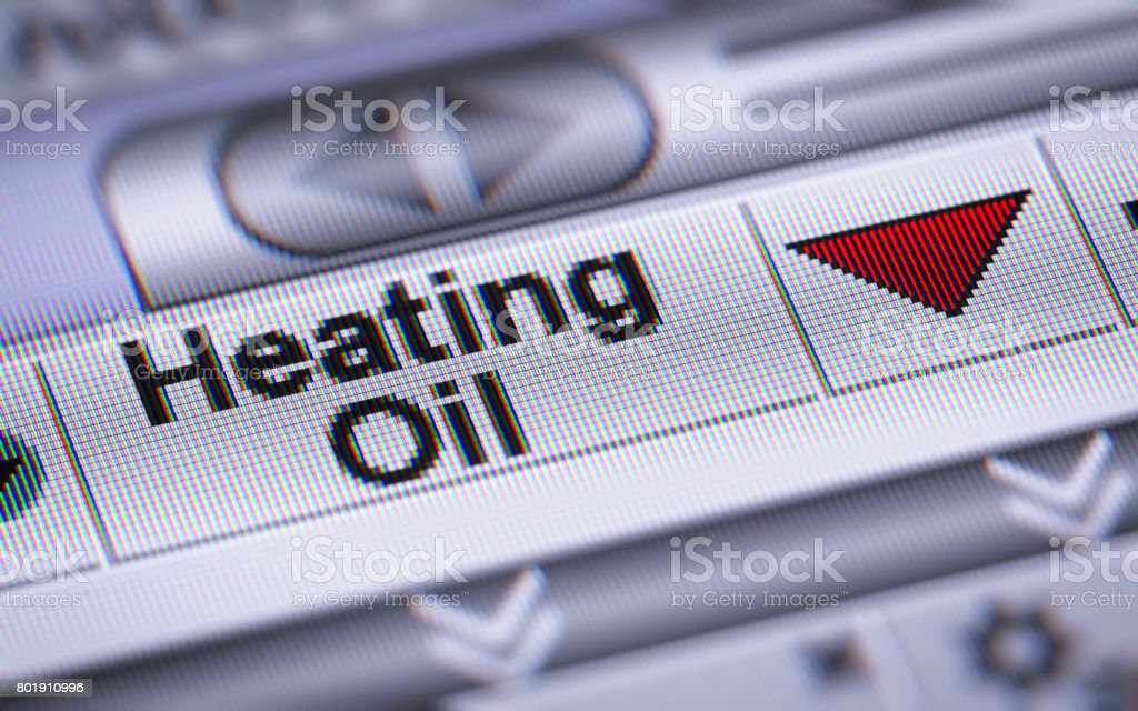 The Index of Heating Oil. Down. stock photo
