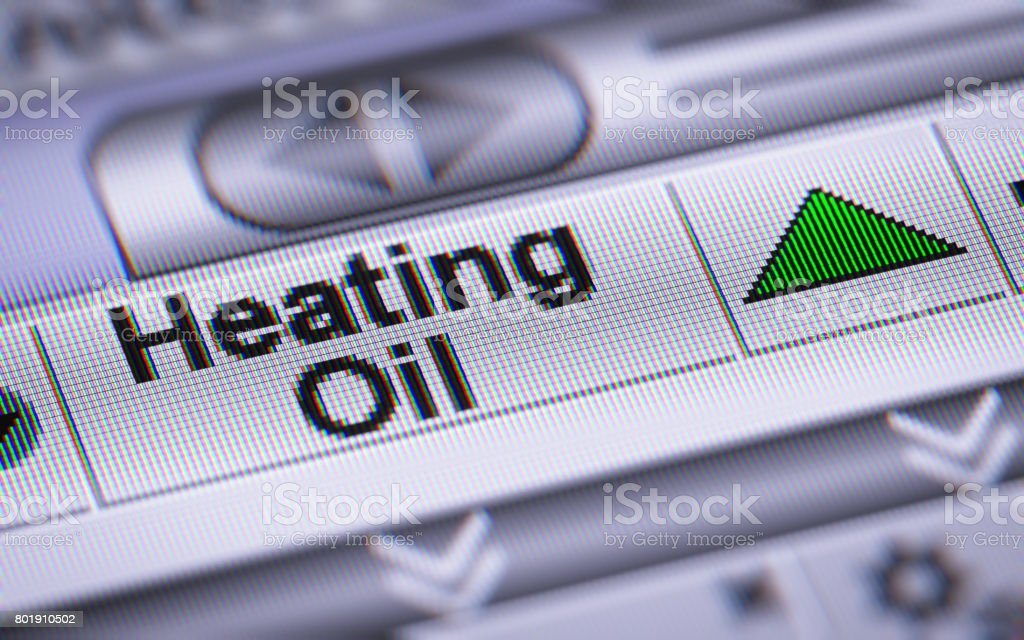 The Index of Heating Oil. Up. stock photo