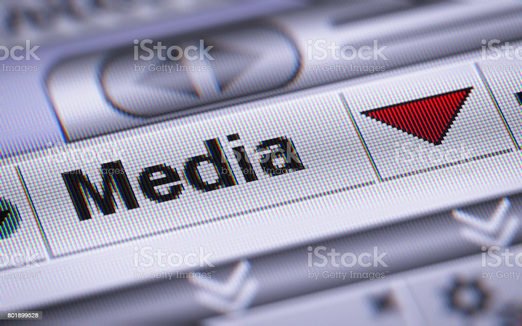 The Index of Media on The Screen. stock photo