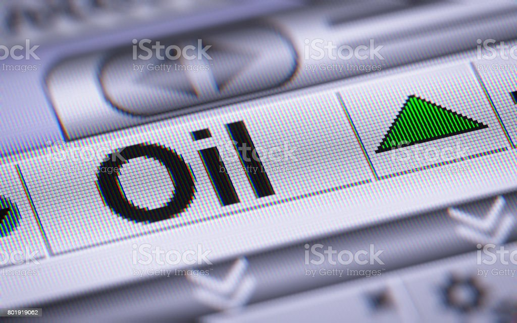 The Index of Oil. Up. stock photo