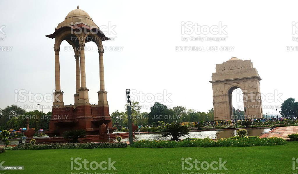 The India gate stock photo