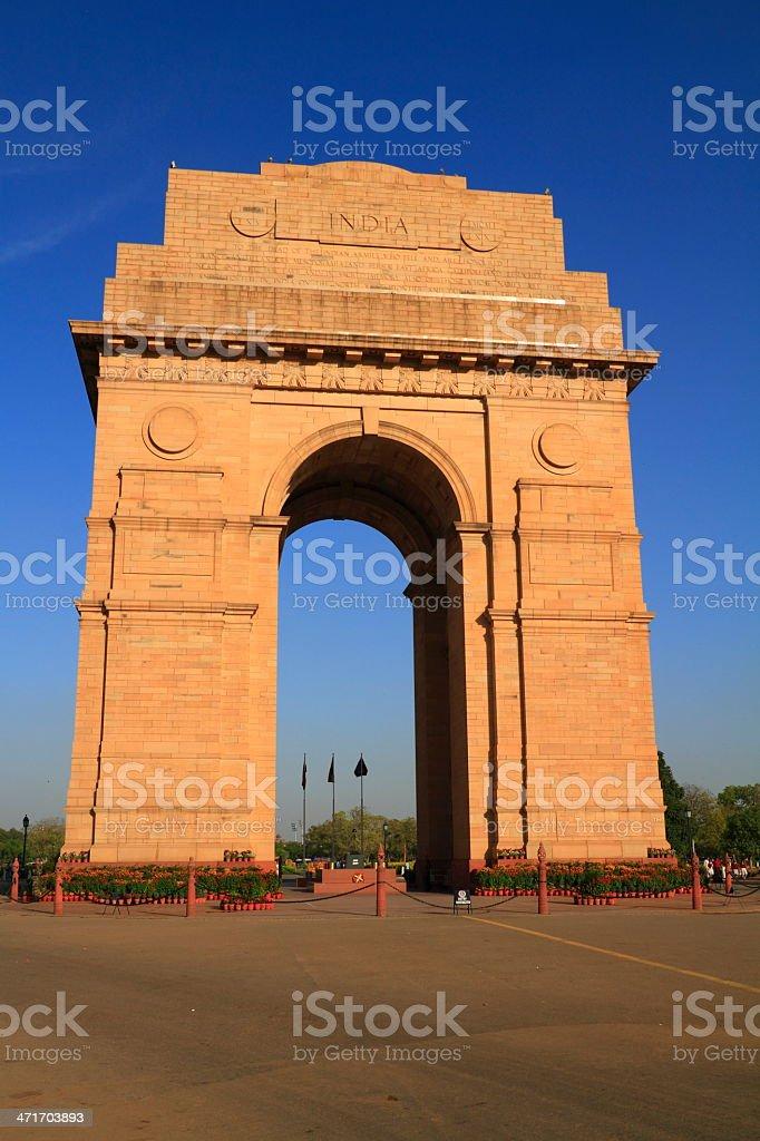 The India Gate stock photo