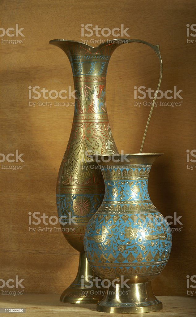 The Indian vases royalty-free stock photo
