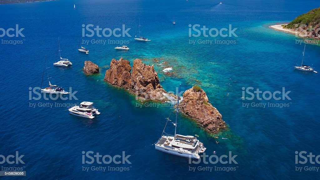 The Indians, British Virgin Islands stock photo
