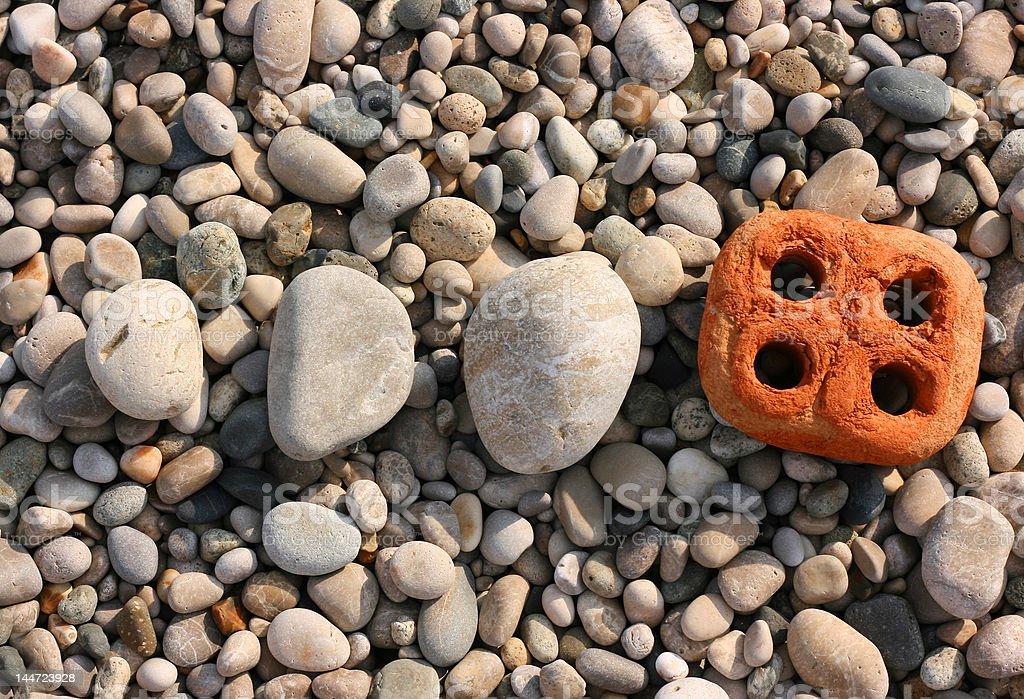 the individuality stone royalty-free stock photo