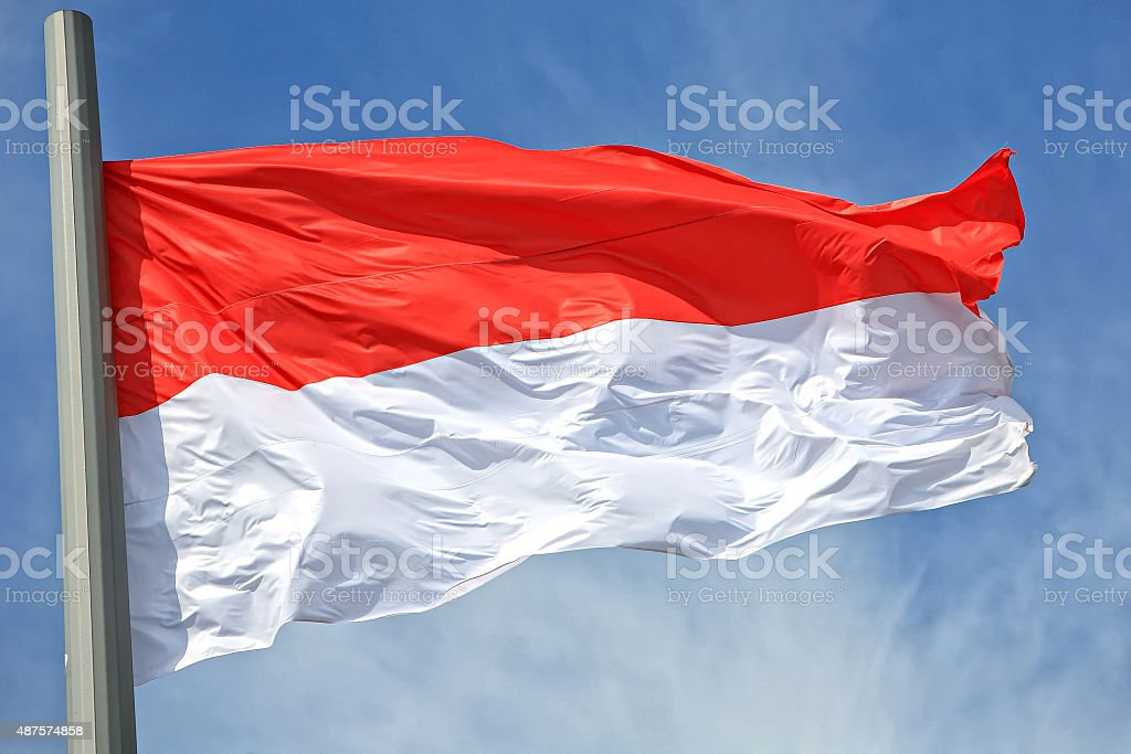 The Indonesian flag stock photo