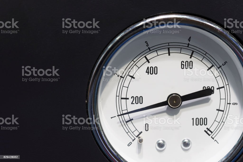 The industrial gauge (gage) on the black background. stock photo