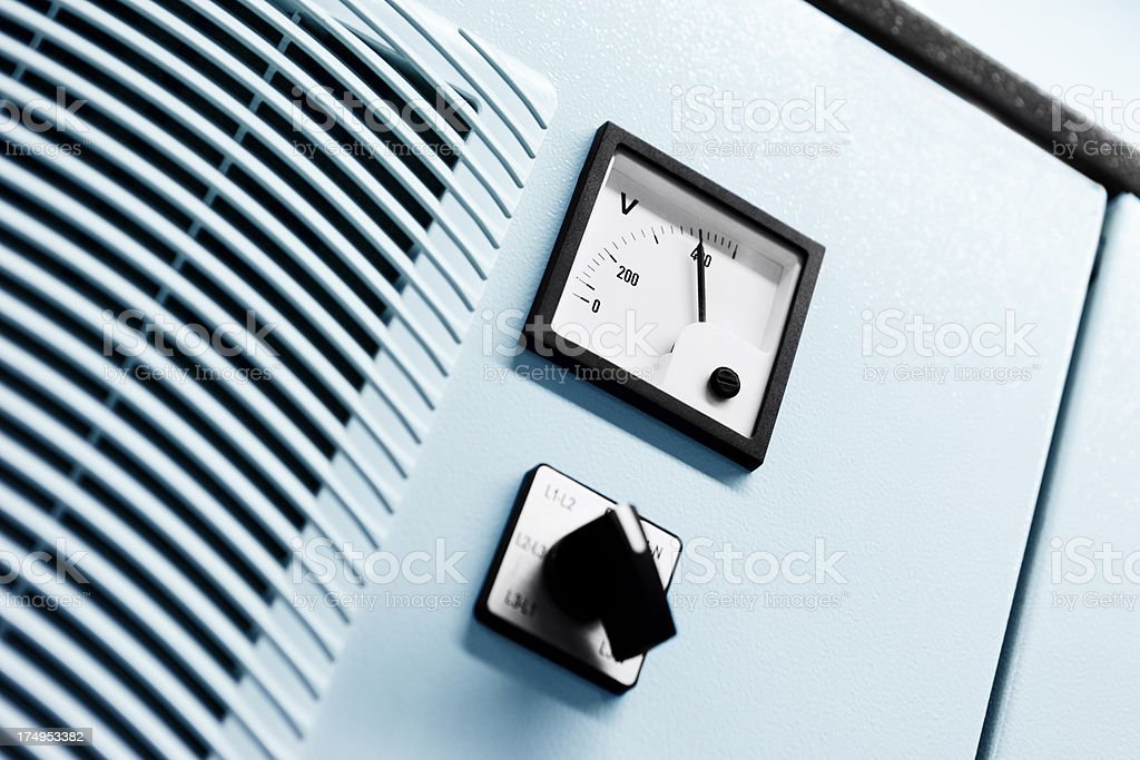 The industrial unit of power distribution system royalty-free stock photo