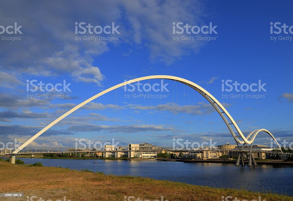 The Infinity Bridge in Stockton-on-Tees, England royalty-free stock photo