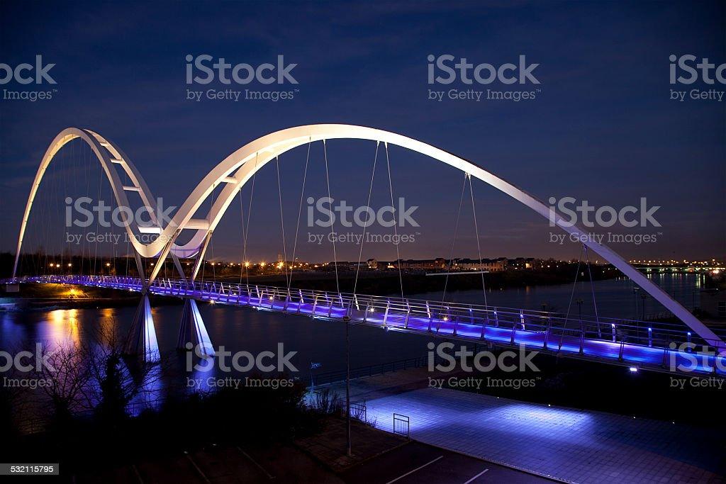 The Infinity Bridge, Stockton-on-Tees, England stock photo