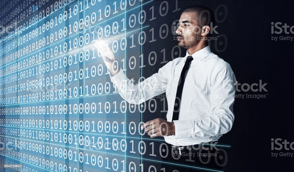 The information age makes data much more accessible stock photo