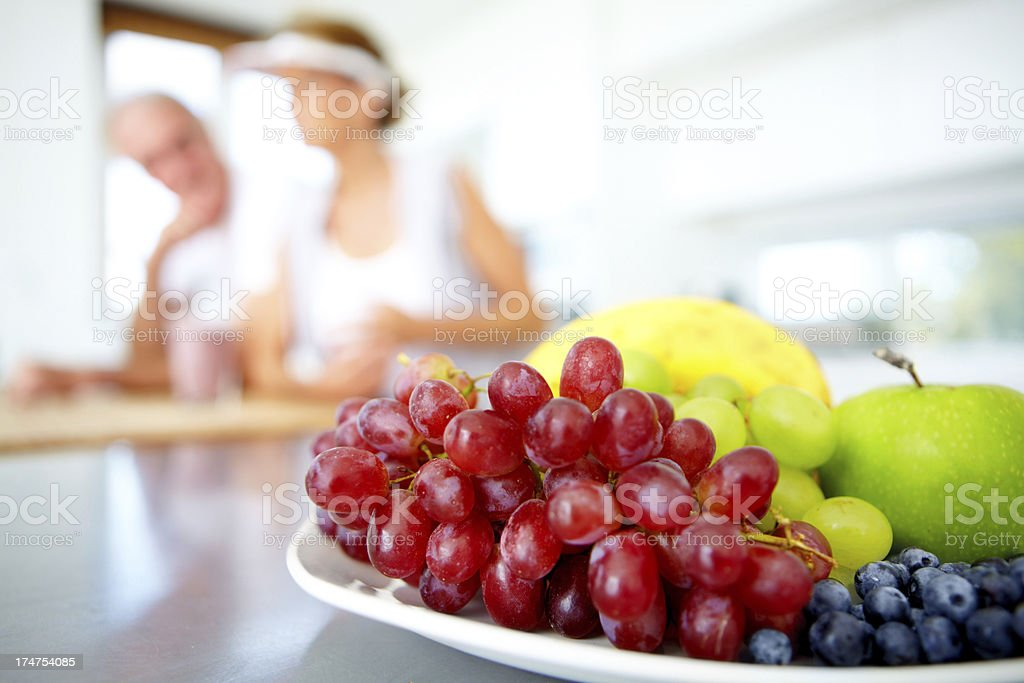 The ingredients for a healthy diet stock photo