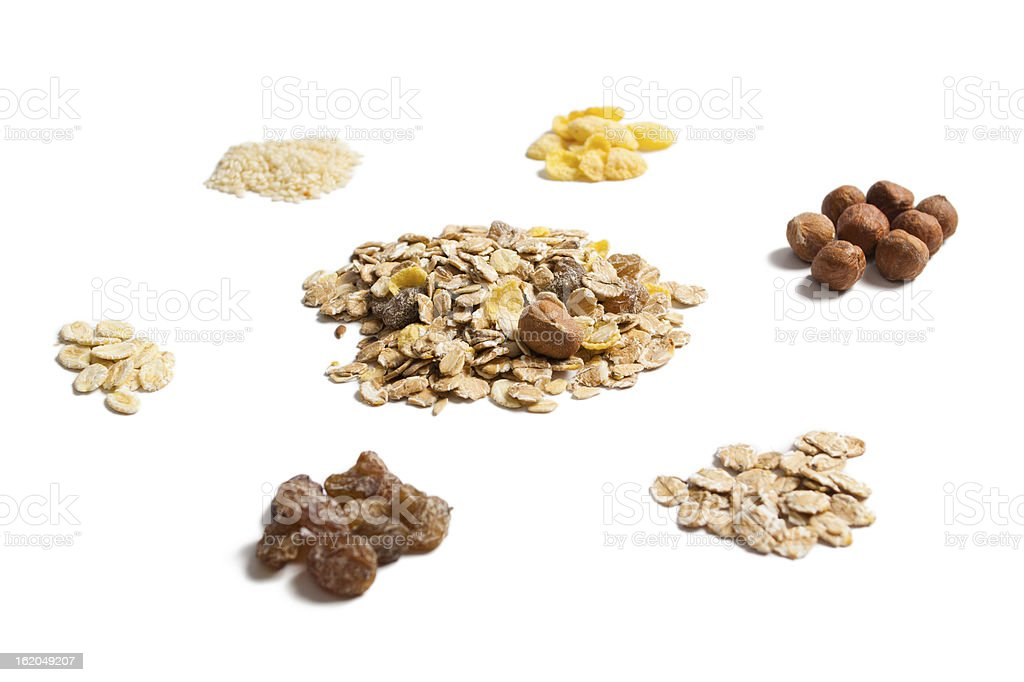 The ingredients of which are made muesli royalty-free stock photo