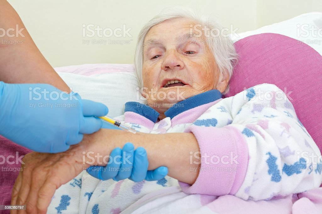 The injection stock photo