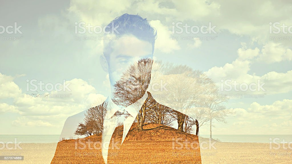 The inner plains of existence stock photo