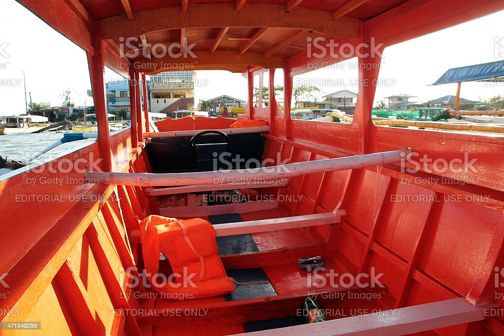 The Inside of Passenger Boat, Philippines royalty-free stock photo
