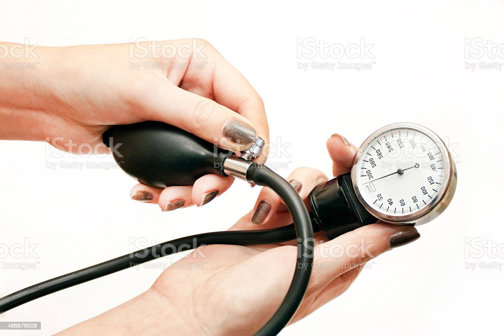 The instrument for pressure measurement stock photo