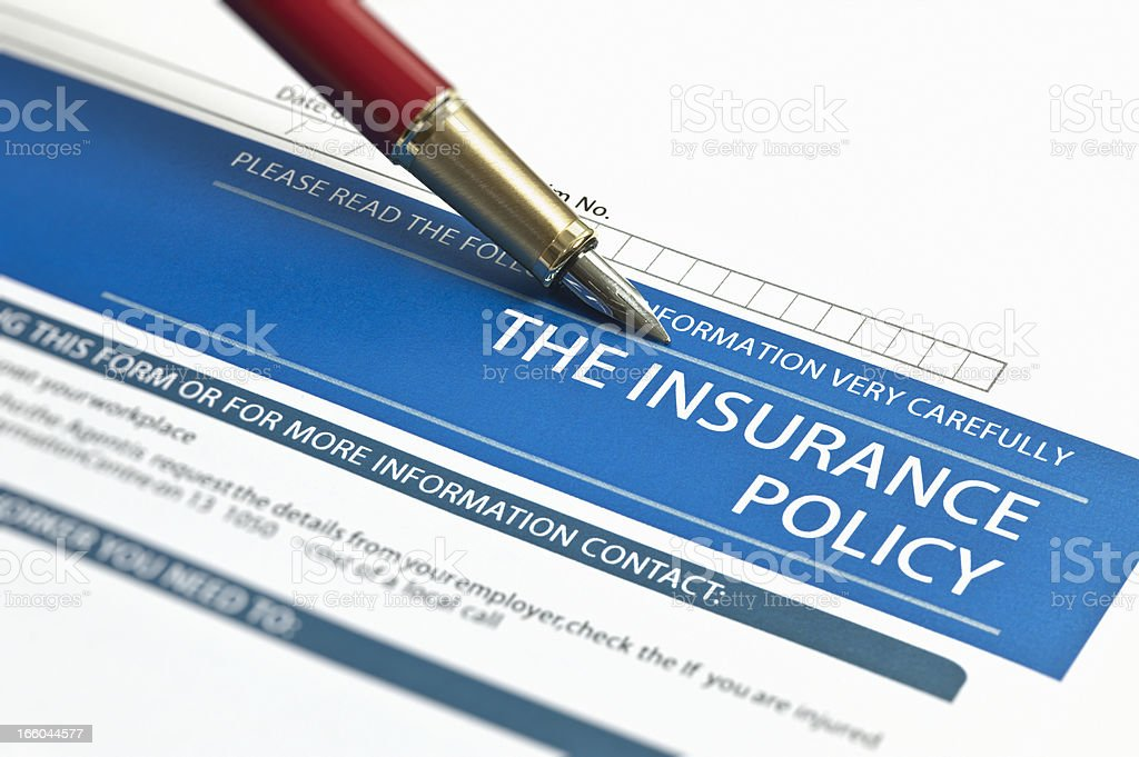 The Insurance Policy stock photo