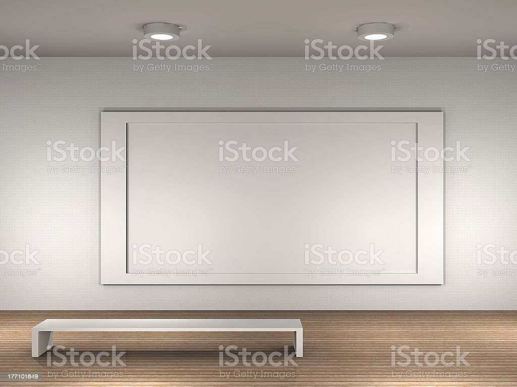 the interior of a empty museum royalty-free stock photo