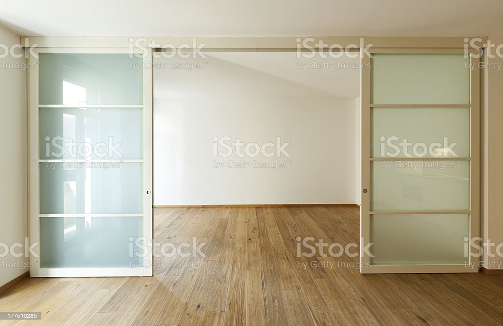 The interior of a large empty home stock photo
