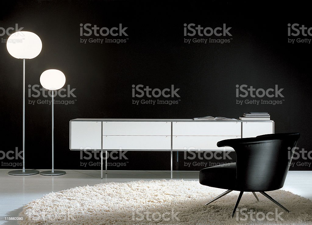 The interior of a modern style living room  stock photo