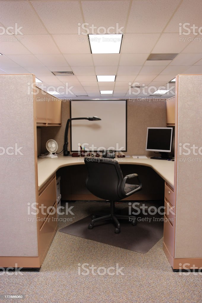 The interior of an office cubicle royalty-free stock photo