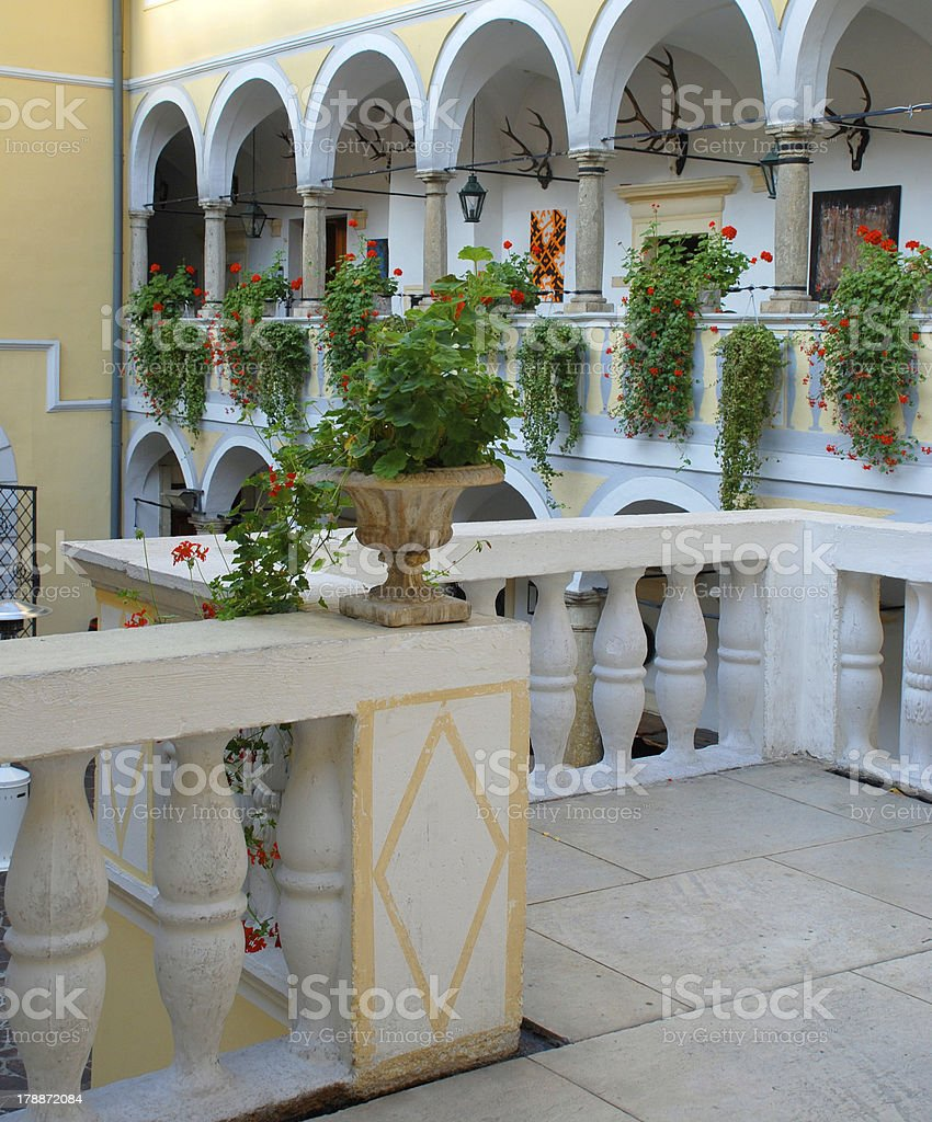 The interior of old hunting castle , Austria royalty-free stock photo