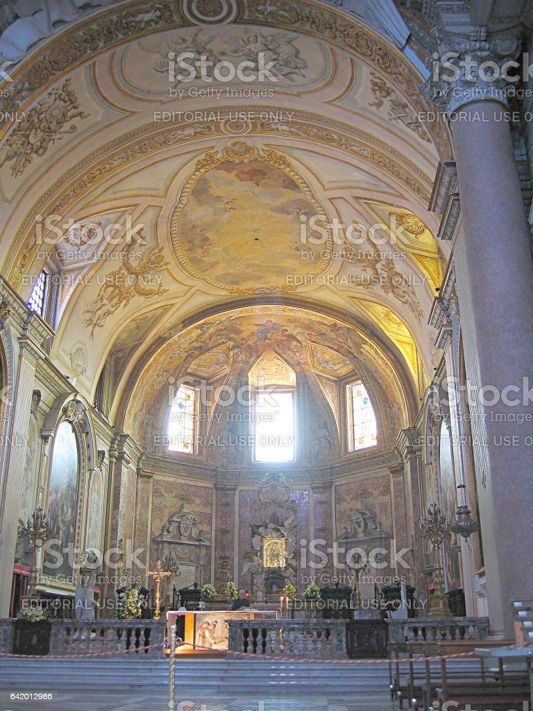 ROME, ITALY – JUNE 27, 2005: The Interior of the Church of Santa Maria del Angeli. stock photo