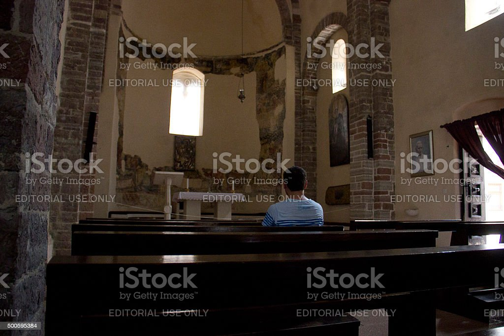 The interior of the church stock photo