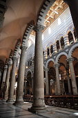 The interior of the Pisa Cathedral in Pisa, Italy