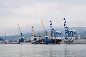 The international sea port of Novorossiysk