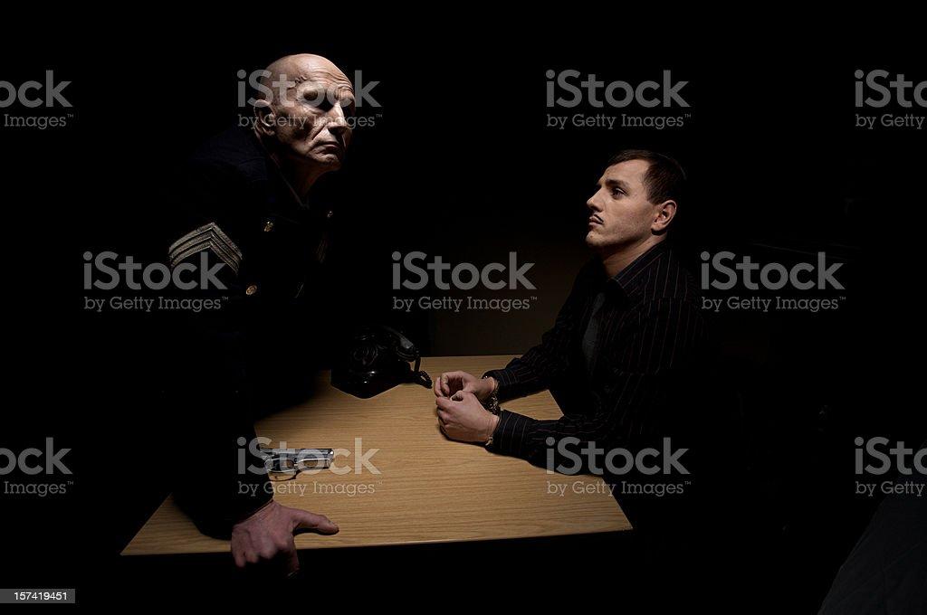 The Interrogation stock photo