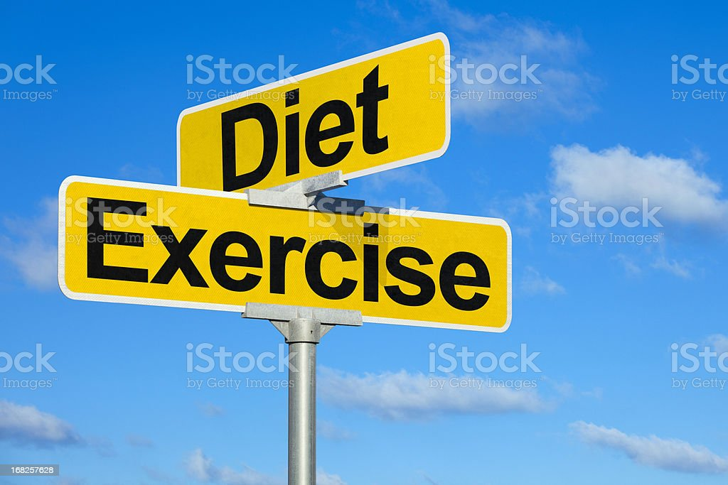 The Intersection of Diet and Exercise stock photo