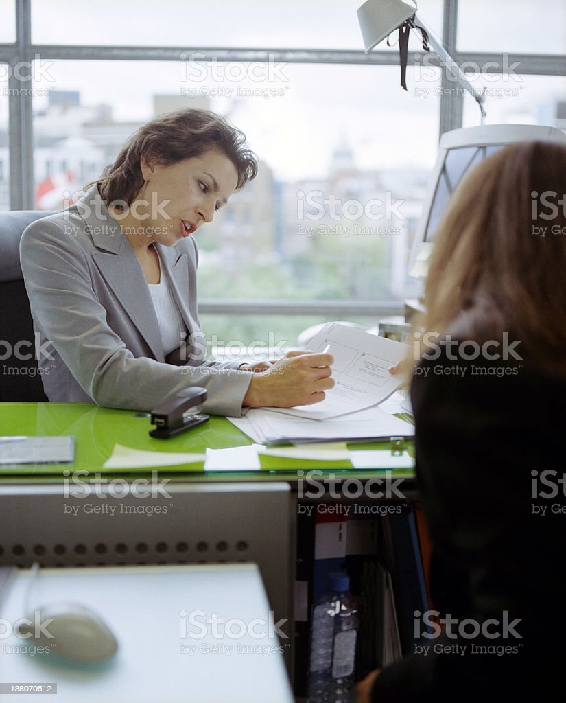 The Interview stock photo