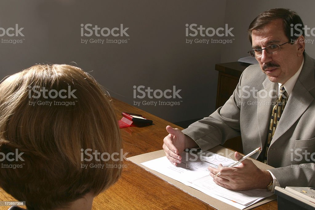 The Interview royalty-free stock photo