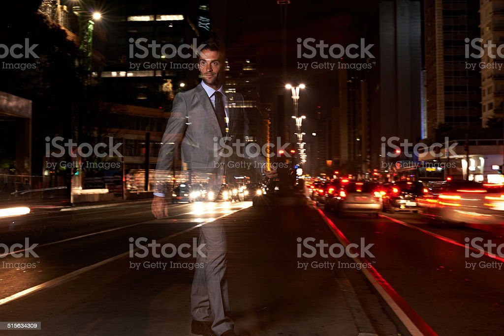 The invisible man stock photo