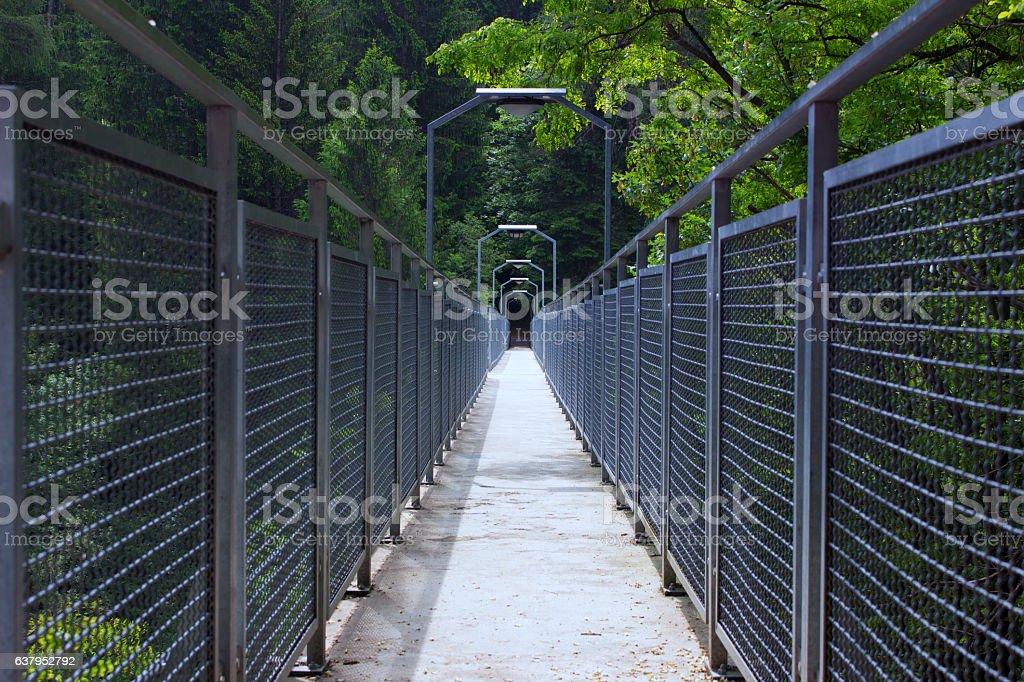 the iron bridge stock photo