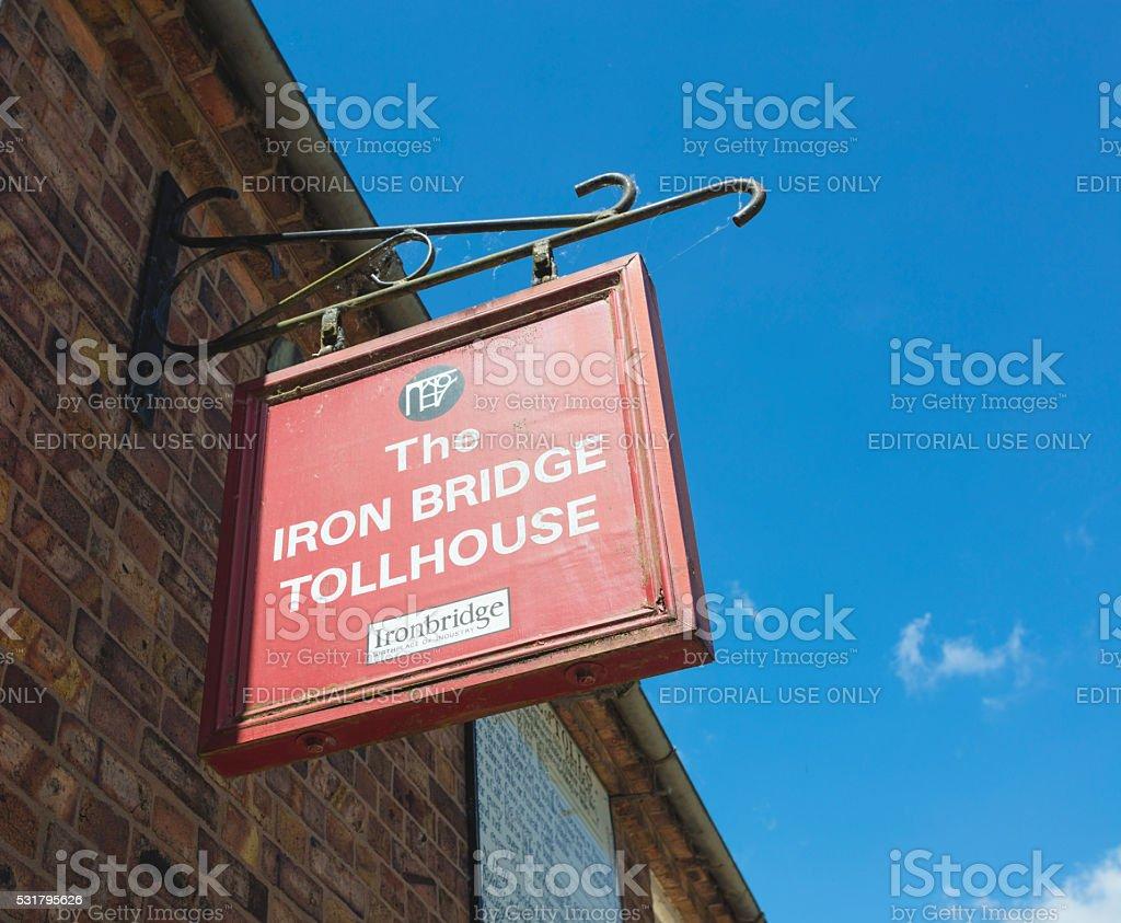 The Iron Bridge Tollhouse stock photo
