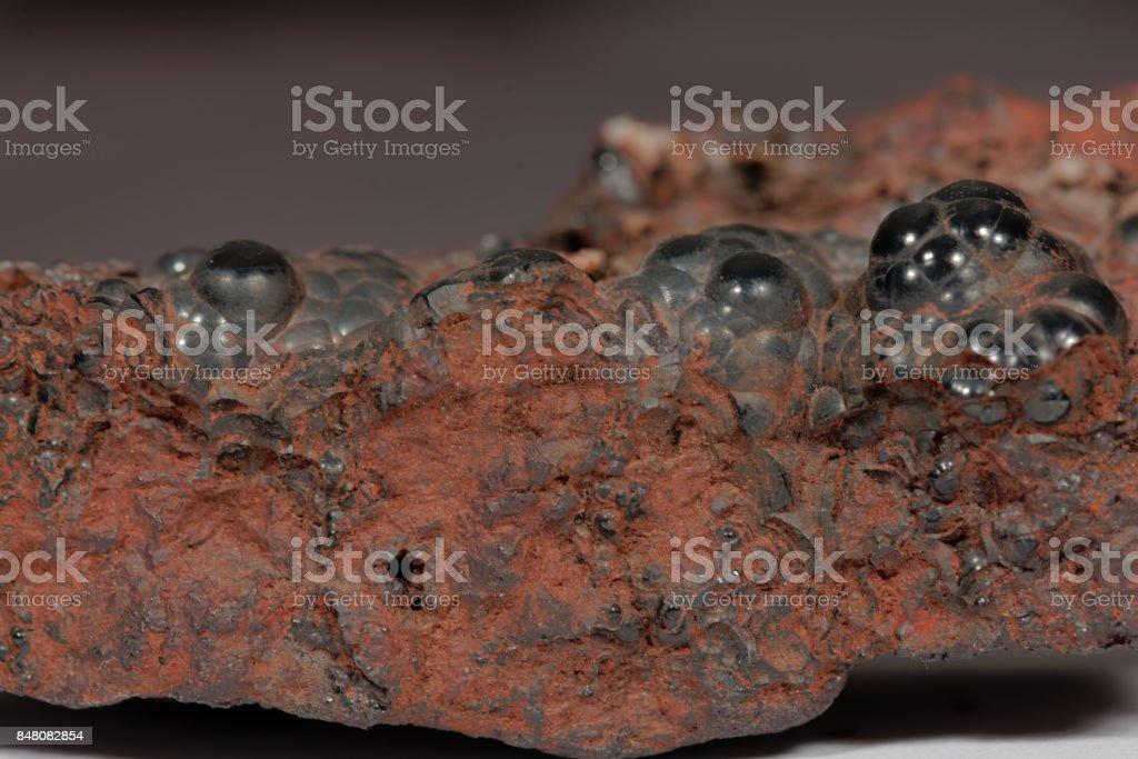 The iron ore Hematite stock photo