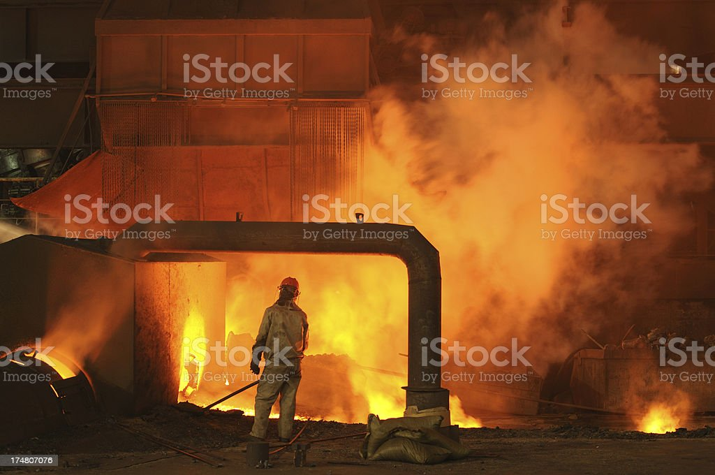 The ironmaking blast furnace royalty-free stock photo