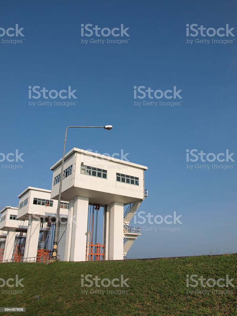 The irrigation tower stock photo