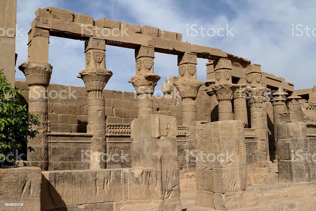 The Isis Temple of Philae in Egypt stock photo