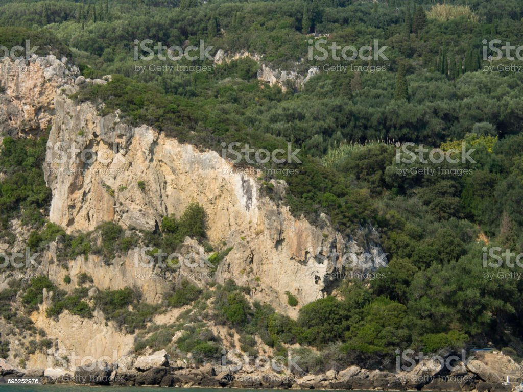 the island of corfu stock photo