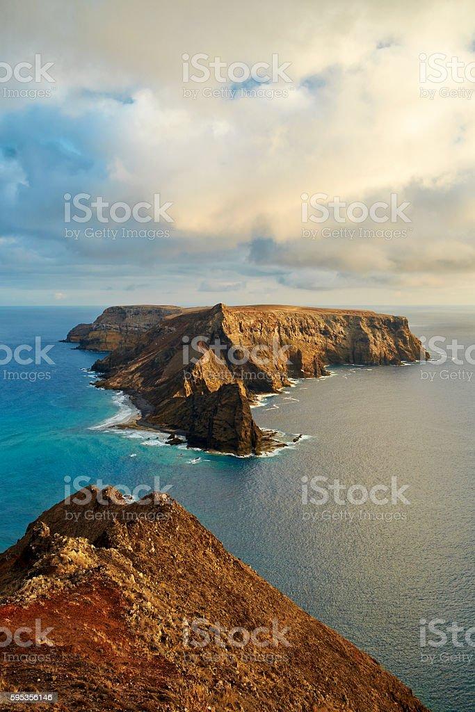 The Island Of Ilhéu da Cal In Porto Santo stock photo