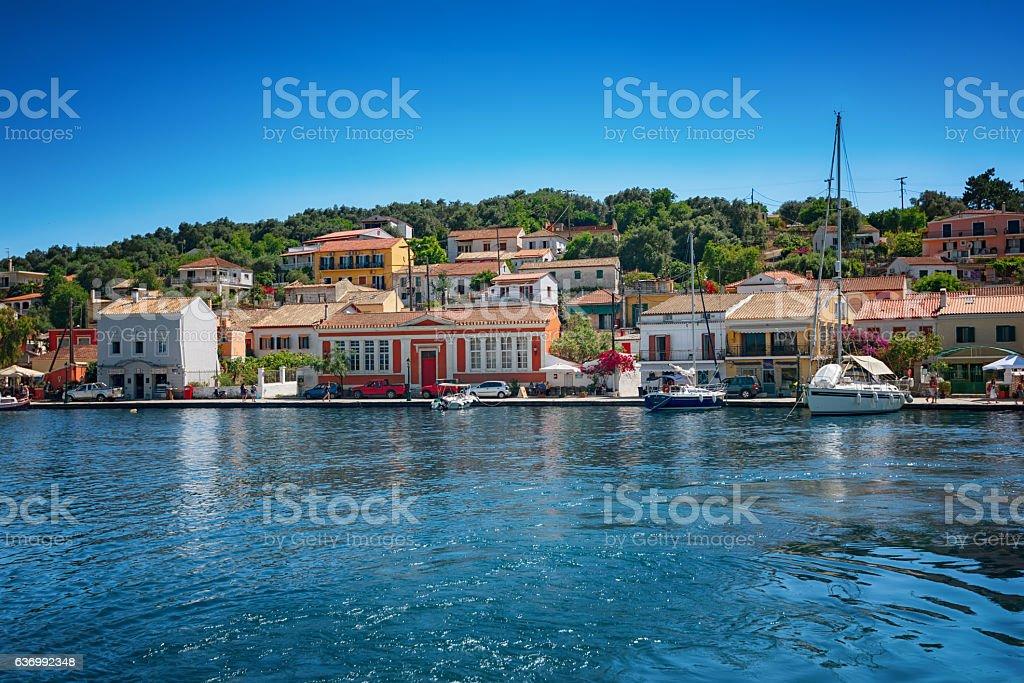 The island of Paxos, Greece - May 22, 2016 stock photo