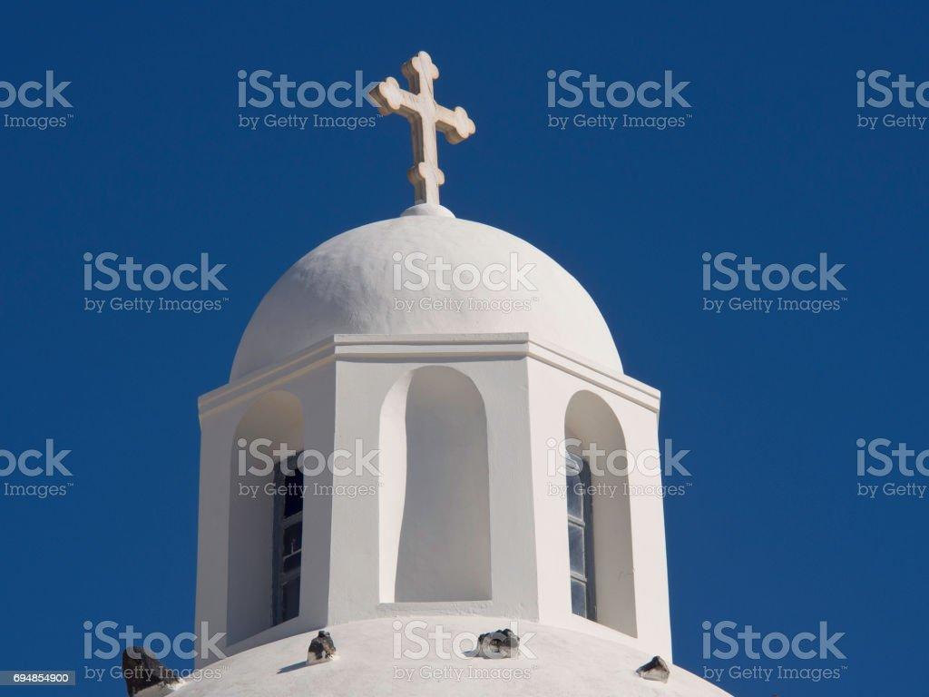 the island of santorini stock photo