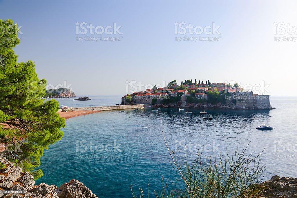 The island of St. Stefan (Sveti Stefan), Montenegro stock photo