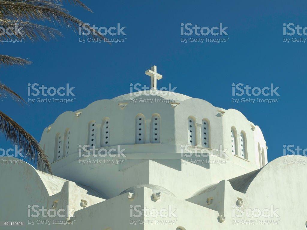the island santorini stock photo