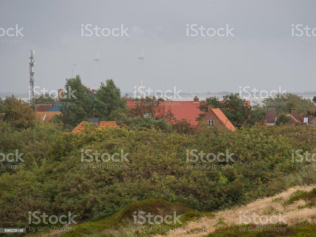 the island spiekeroog stock photo